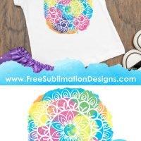 Free Sublimation Print Colorful Mandala