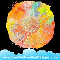 Free Sublimation Print Sunflower