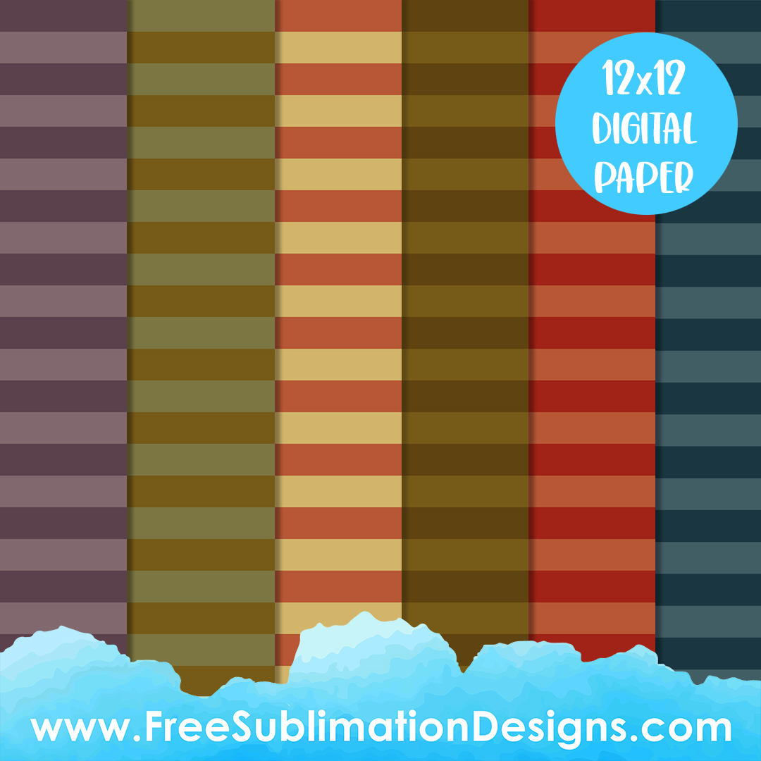 Free Sublimation Print Fall Striped Digital Paper Pack