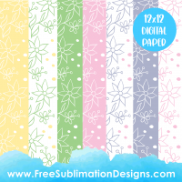 Free Sublimation Print Spring Daisy Digital Paper Pack