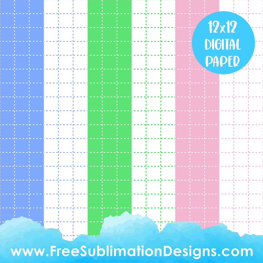 Free Sublimation Print Colored Graph Paper Pack