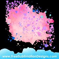Free Sublimation Print Watercolor Paint Background