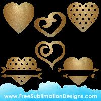 Free Sublimation Print Love Heart Glitter Bundle