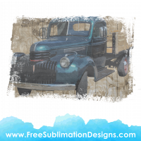 Free Sublimation Print Distressed Pick Up Truck
