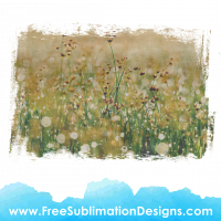 Free Sublimation Print Distressed Flower Field Background