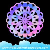 Free Sublimation Print Watercolor Mandala