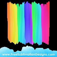 Free Sublimation Print Rainbow Paint Stripes Background