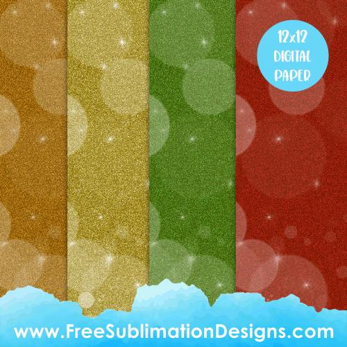 Free Sublimation Print Glitter Digital Paper Backgrounds