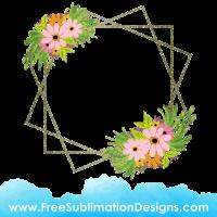 Free Sublimation Print Floral Flower Frame