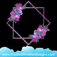 Free Sublimation Print Watercolor Floral Flower Frame