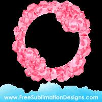 Free Sublimation Print Watercolor Floral Monogram Frame