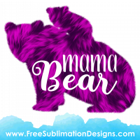 Free Sublimation Print Mama Bear Fur Texture