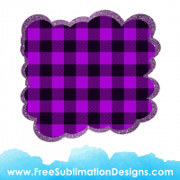 Free Sublimation Print Purple Tartan Cloud Glitter Background