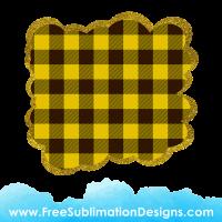 Free Sublimation Print Yellow Tartan Cloud Glitter Background