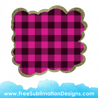 Free Sublimation Print Pink Tartan Cloud Glitter Background