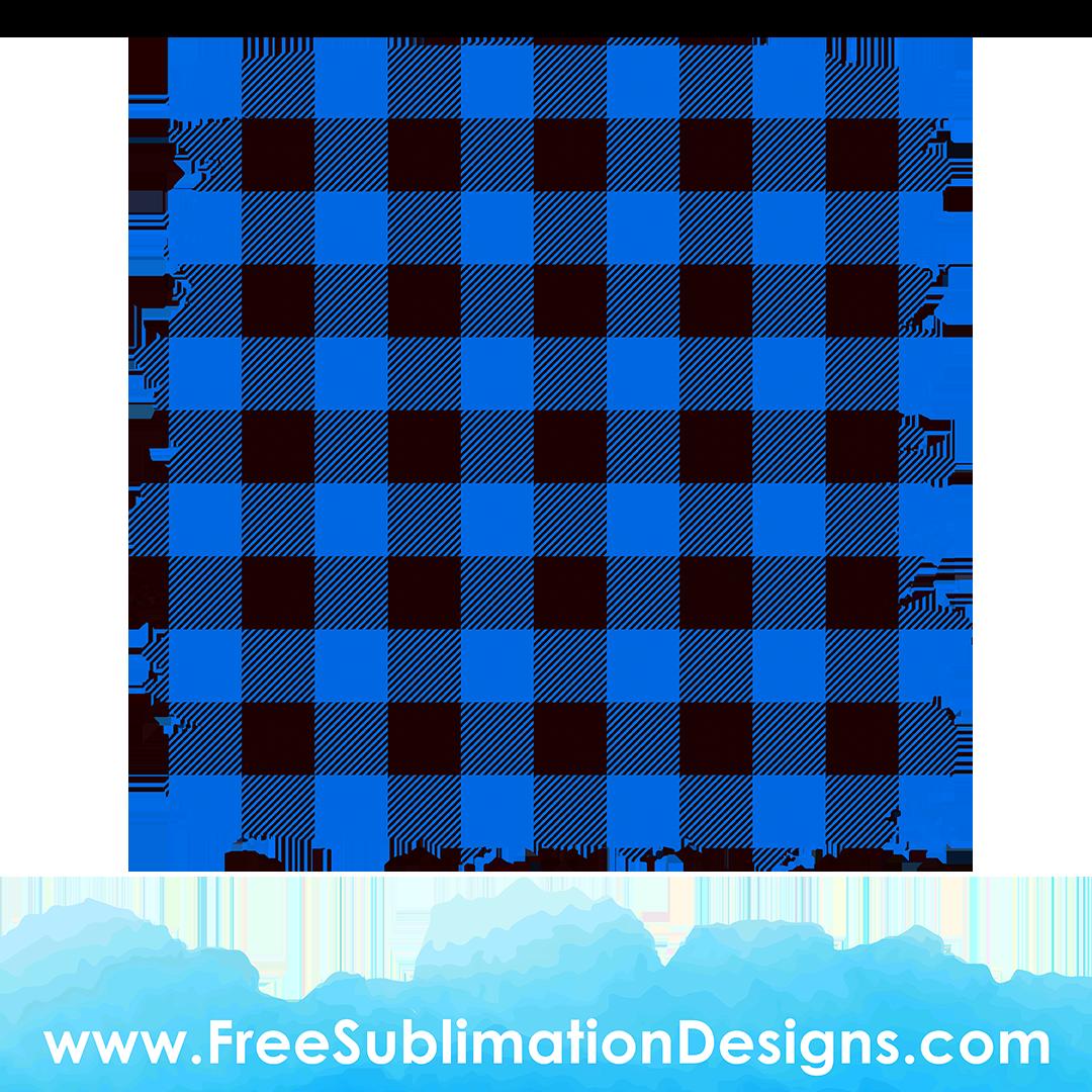 Free Sublimation Print Blue Tartan Distressed Background