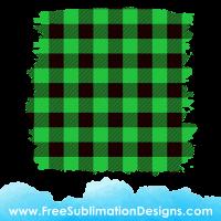 Free Sublimation Print Green Tartan Distressed Background