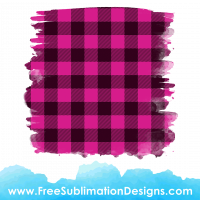 Free Sublimation Print Pink Tartan Distressed Background