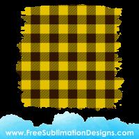 Free Sublimation Print Yellow Tartan Distressed Background