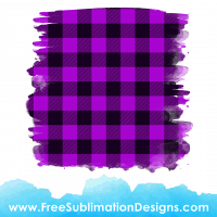 Free Sublimation Print Purple Tartan Distressed Background