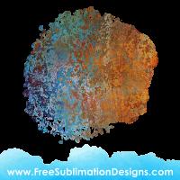 Free Sublimation Print Rust Blob Background