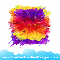 Free Sublimation Print Paint Strokes Background