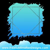 Free Sublimation Print Blue Glitter Diamond Watercolor Background
