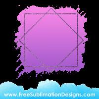 Free Sublimation Print Purple Glitter Diamond Watercolor Background