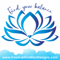 Peace Lily Find Your Balance Sublimation Print