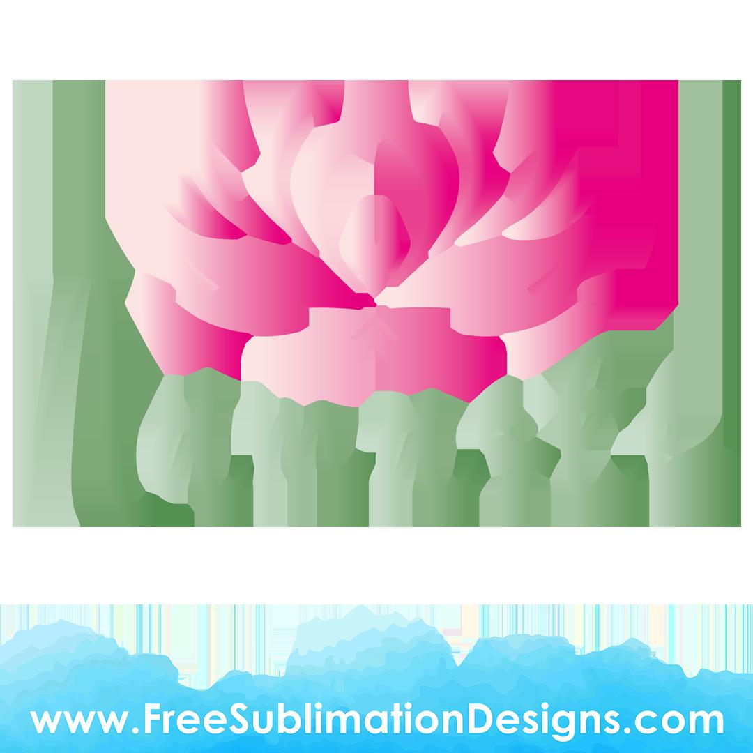 Peace Lily Namaste Sublimation Print
