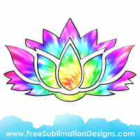 Tie Dye Lily Sublimation Print