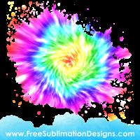 Tie Dye Rainbow Background Sublimation Print