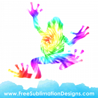 Tie Dye Frog Sublimation Print