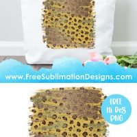 Cheetah Print Pattern Background Sublimation Print