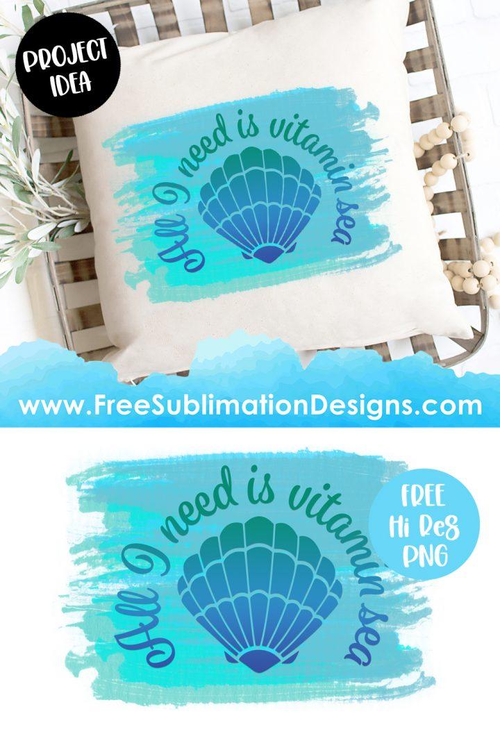 Vitamin Sea Quote Sublimation Print