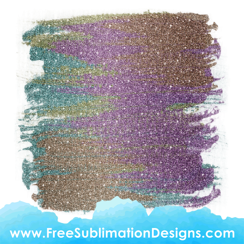 Glitter Background Sublimation Print