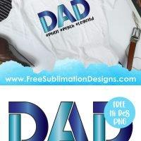 Dad Man Myth Legend Quote Sublimation Print