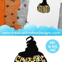 Leopard Print Halloween Pumpkin Sublimation Print