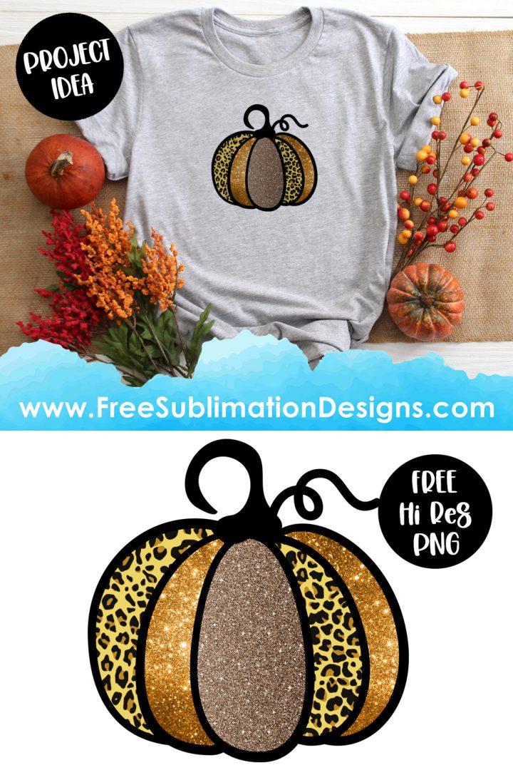 Leopard Print Glitter Halloween Sublimation Print