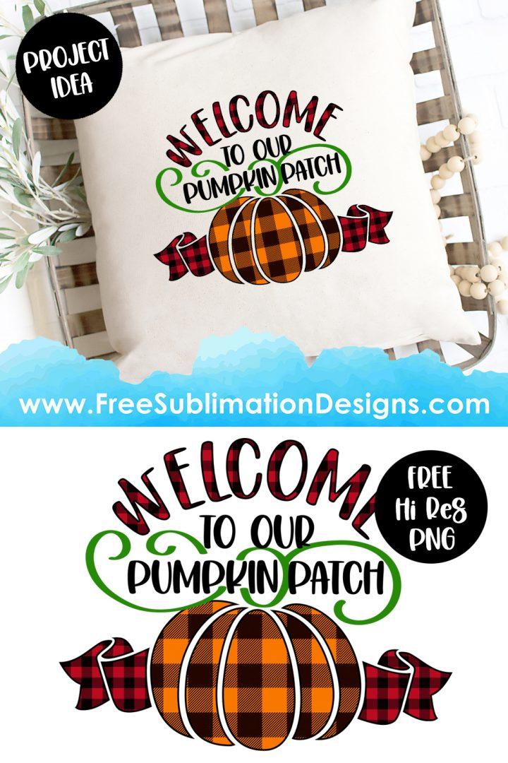 Halloween Pumpkin Patch Quote Sublimation Print