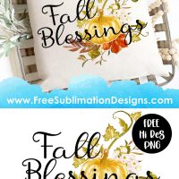 Fall Blessings Sublimation Print