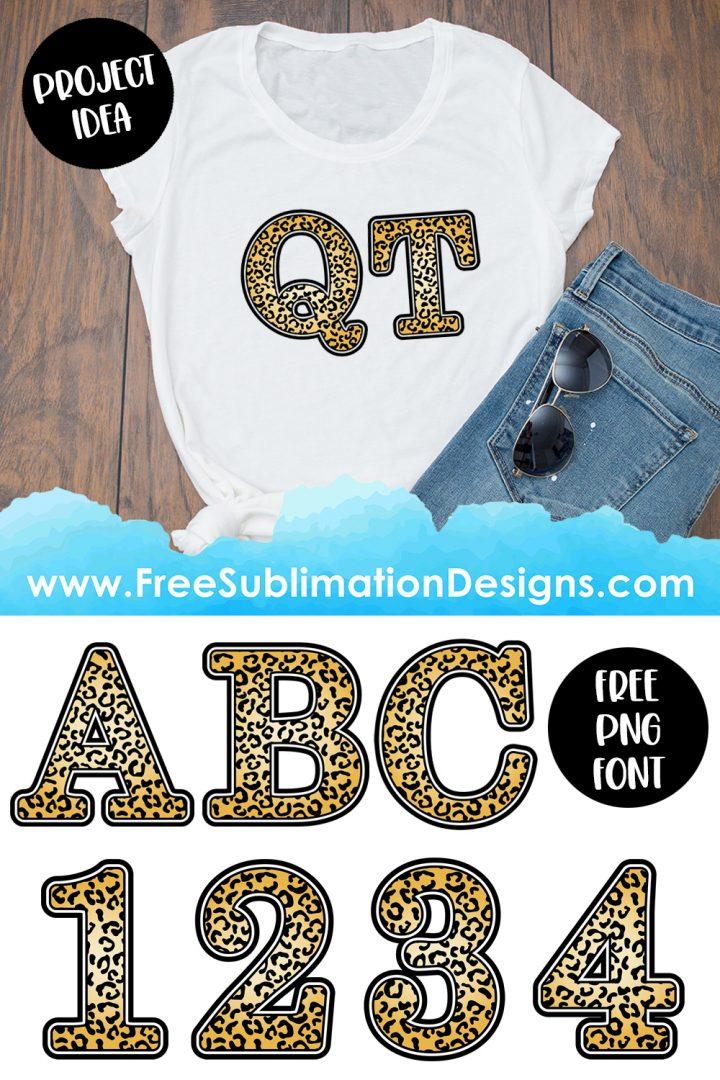 Leopard Print Font Sublimation Print