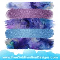 Watercolor Glitter Brush Stroke Background Sublimation Print