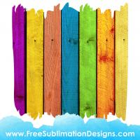 Rainbow Wood Texture Background Sublimation Print